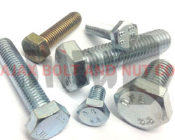Coated and plain finished hex bolt